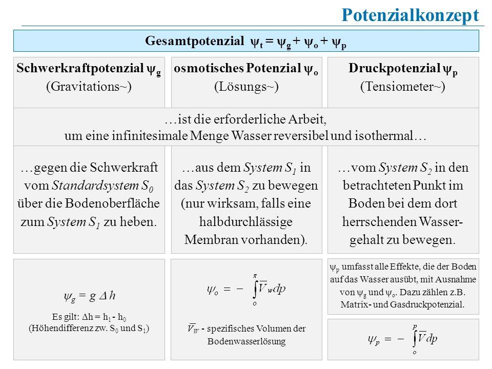 Gesamtpotenzial ψt = ψg + ψo + ψp