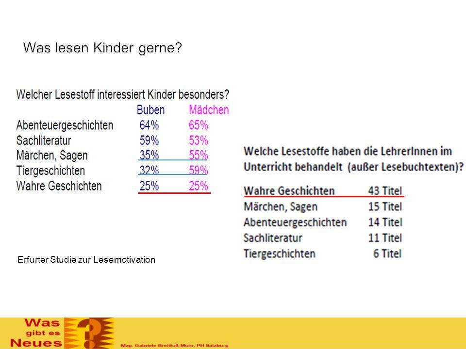 Was lesen Kinder gerne Erfurter Studie zur Lesemotivation