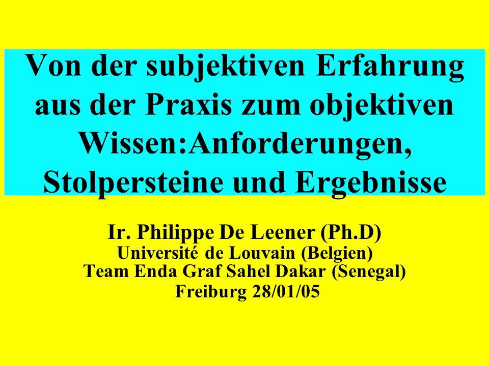 Ir. Philippe De Leener (Ph.D) Université de Louvain (Belgien)