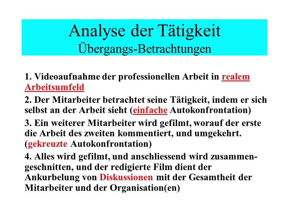 Analyse der Tätigkeit Übergangs-Betrachtungen