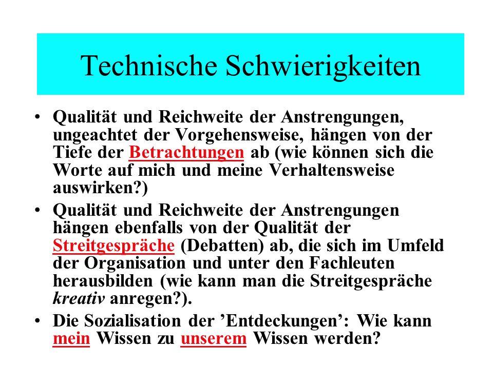 Technische Schwierigkeiten
