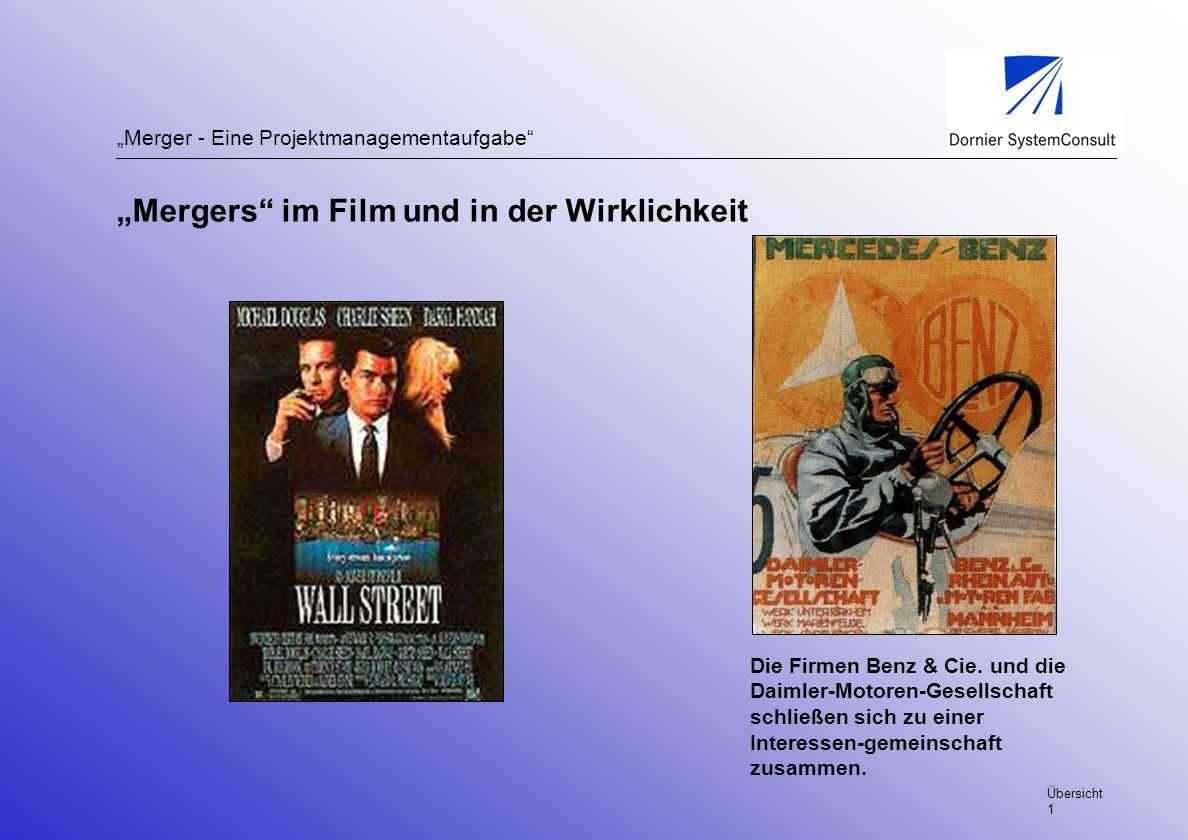 """""""Mergers im Film und in der Wirklichkeit"""