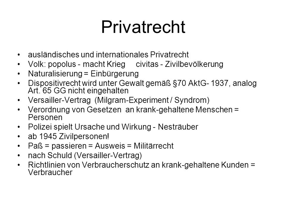 Privatrecht ausländisches und internationales Privatrecht