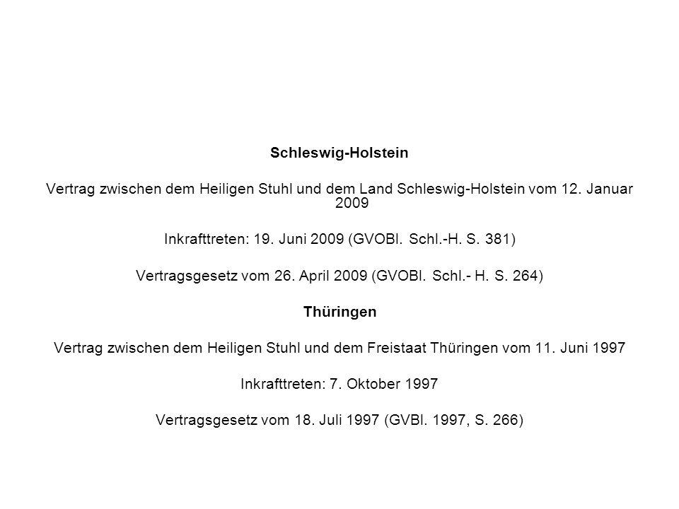 Schleswig-Holstein Thüringen