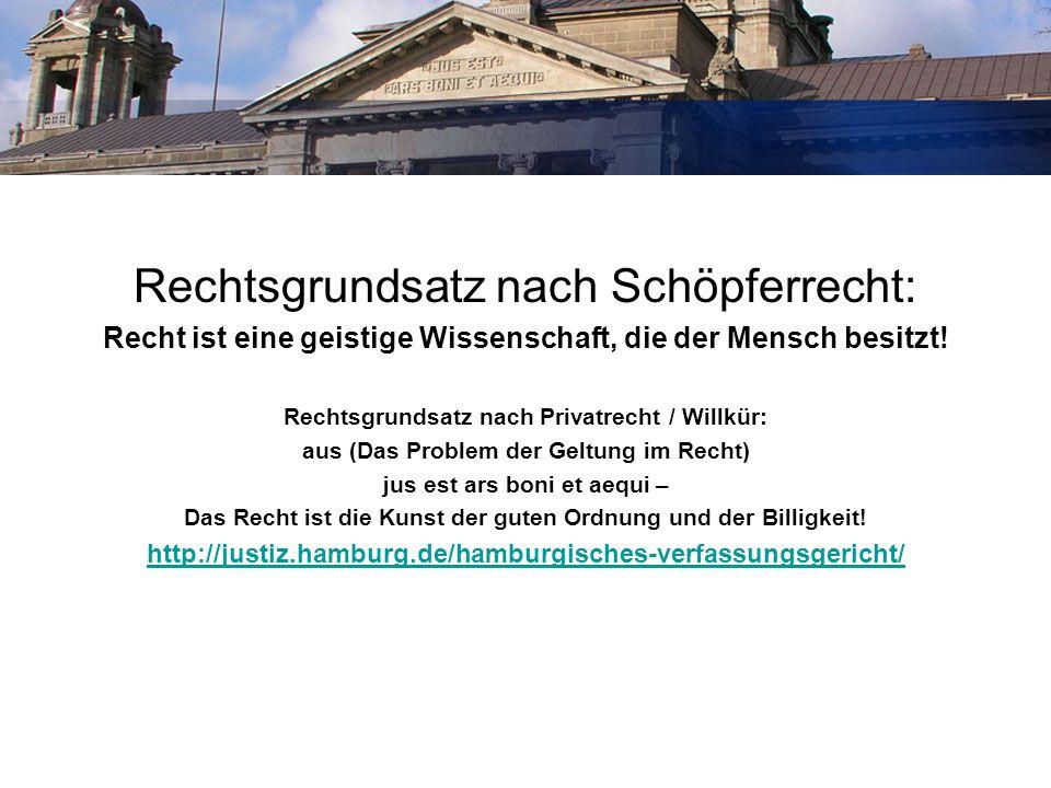 Wissenschaft / Kunst Rechtsgrundsatz nach Schöpferrecht:
