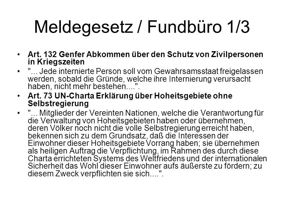 Meldegesetz / Fundbüro 1/3