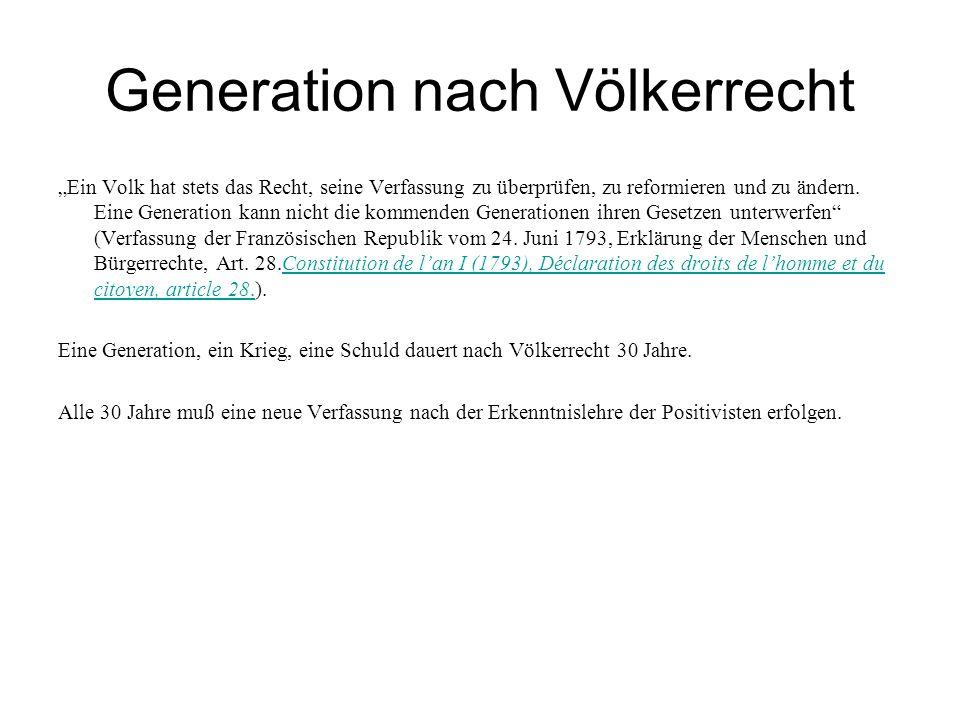 Generation nach Völkerrecht