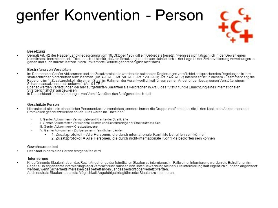 genfer Konvention - Person