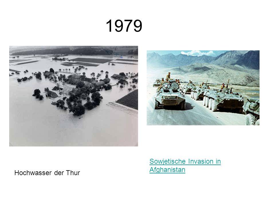 1979 Sowjetische Invasion in Afghanistan Hochwasser der Thur