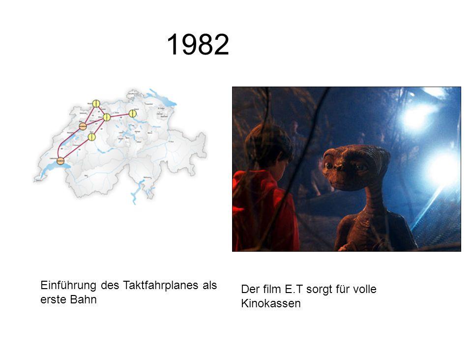 1982 Einführung des Taktfahrplanes als erste Bahn