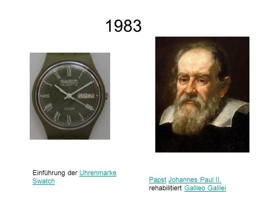 1983 Einführung der Uhrenmarke Swatch
