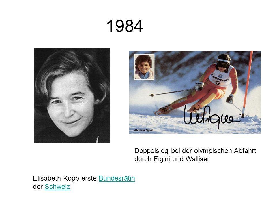 1984 Doppelsieg bei der olympischen Abfahrt durch Figini und Walliser