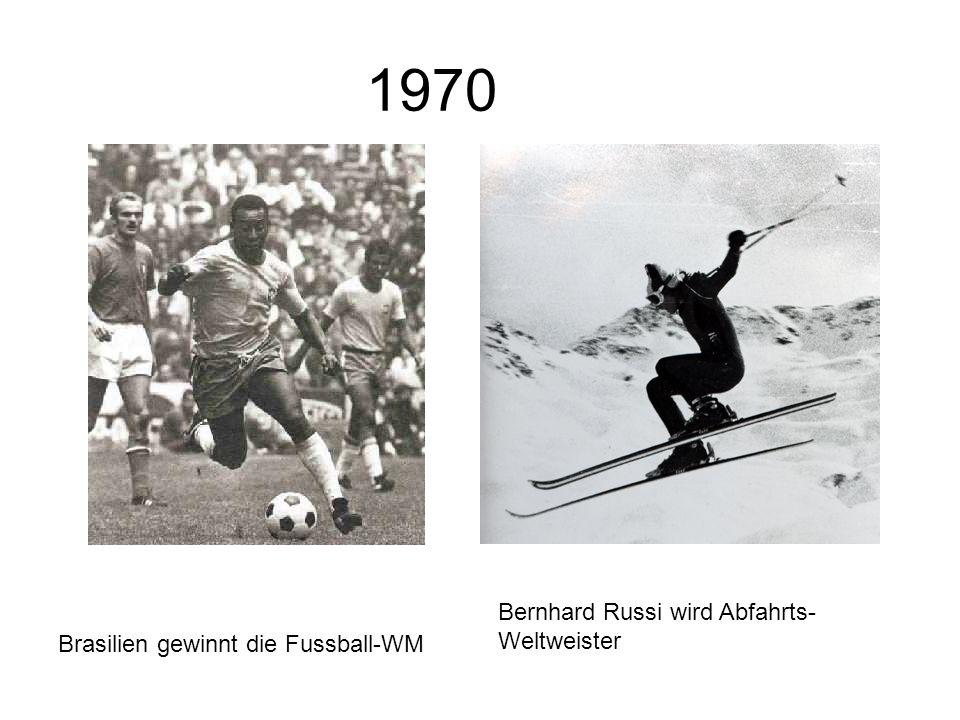 1970 Bernhard Russi wird Abfahrts-Weltweister