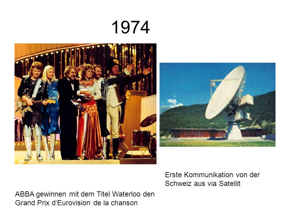 1974 Erste Kommunikation von der Schweiz aus via Satellit