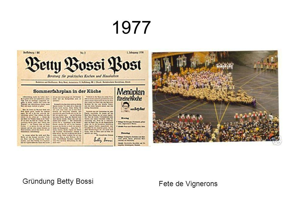1977 Gründung Betty Bossi Fete de Vignerons