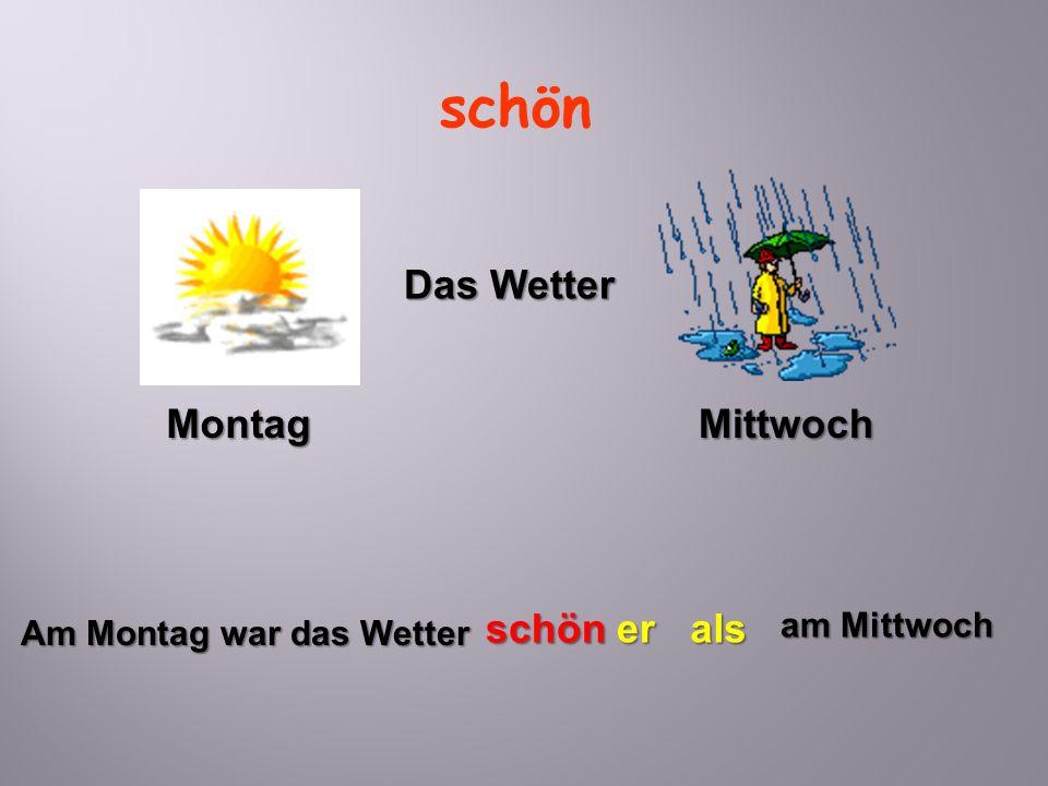 Am Montag war das Wetter