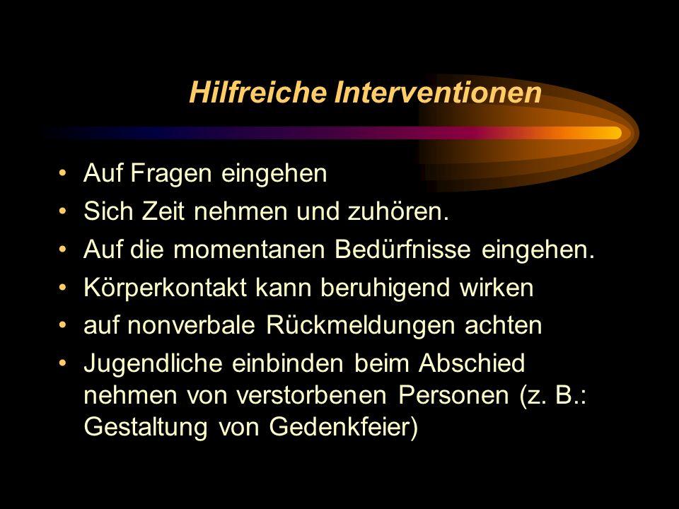 Hilfreiche Interventionen