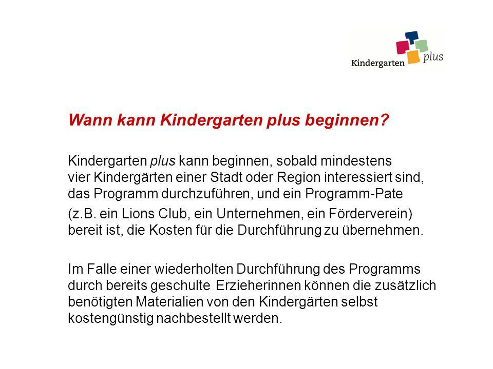 Wann kann Kindergarten plus beginnen