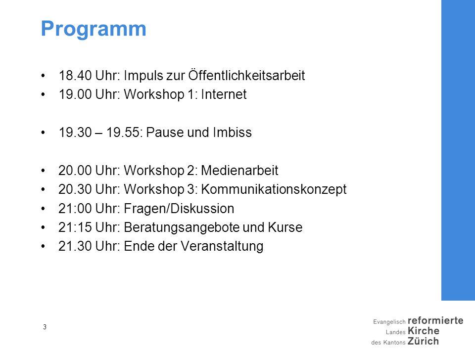 Programm 18.40 Uhr: Impuls zur Öffentlichkeitsarbeit