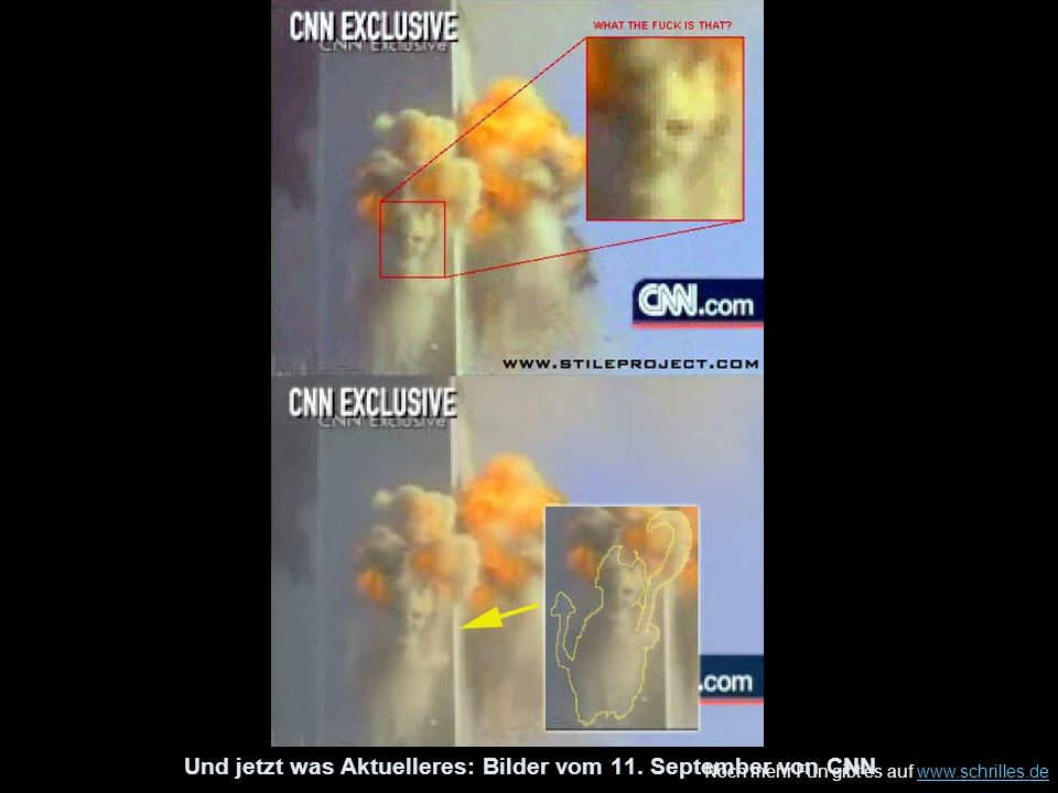 Und jetzt was Aktuelleres: Bilder vom 11. September von CNN