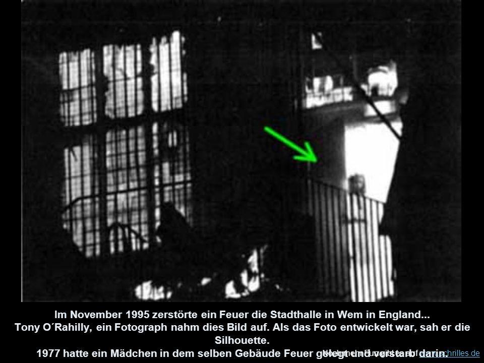 Im November 1995 zerstörte ein Feuer die Stadthalle in Wem in England