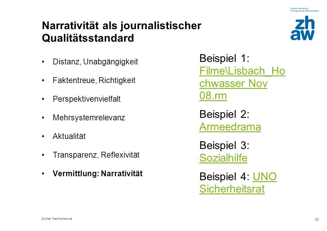 Narrativität als journalistischer Qualitätsstandard
