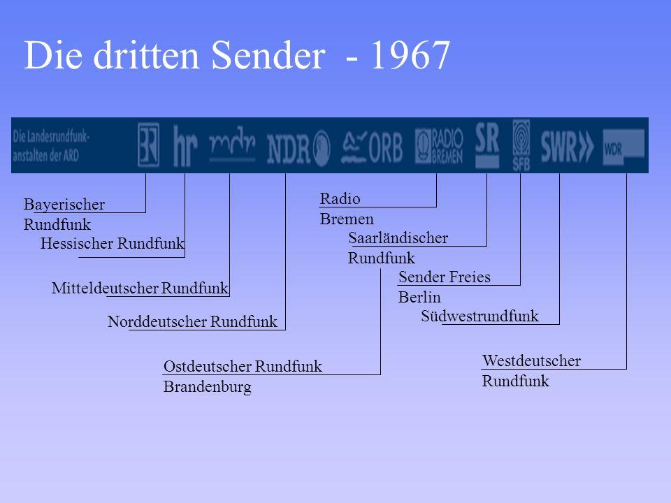 Die dritten Sender - 1967 Radio Bremen Bayerischer Rundfunk