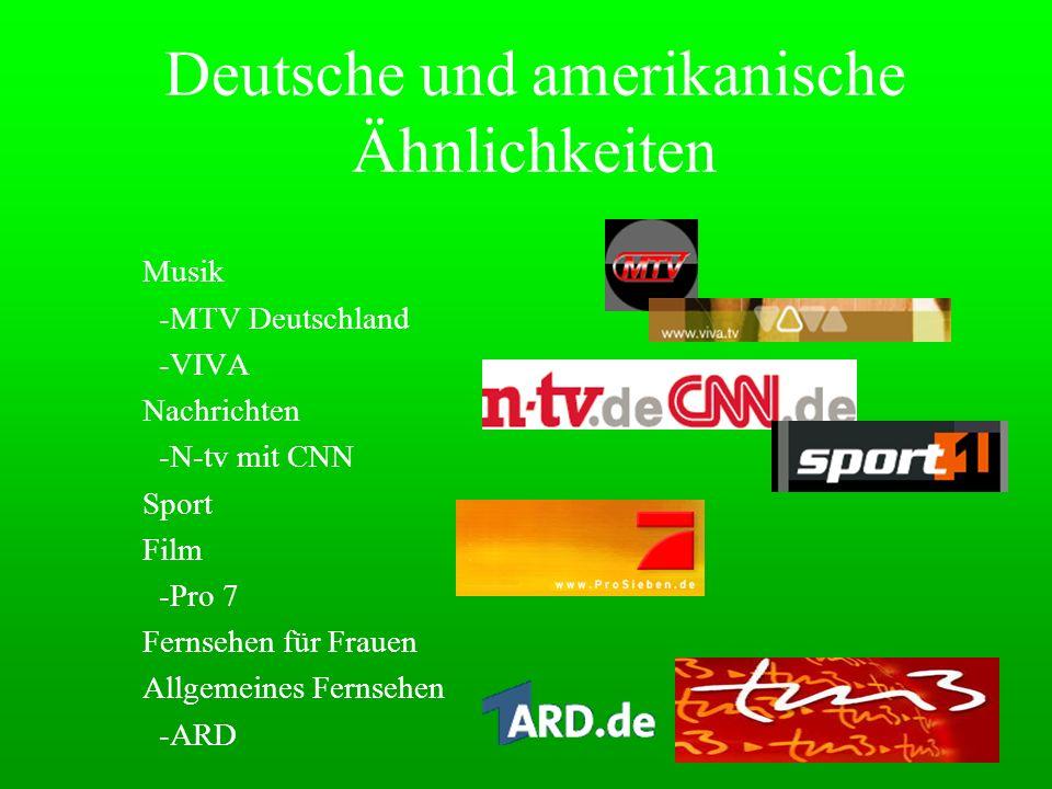 Deutsche und amerikanische Ähnlichkeiten