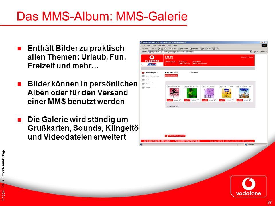 Das MMS-Album: MMS-Galerie