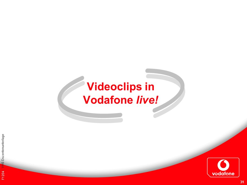 Videoclips in Vodafone live!