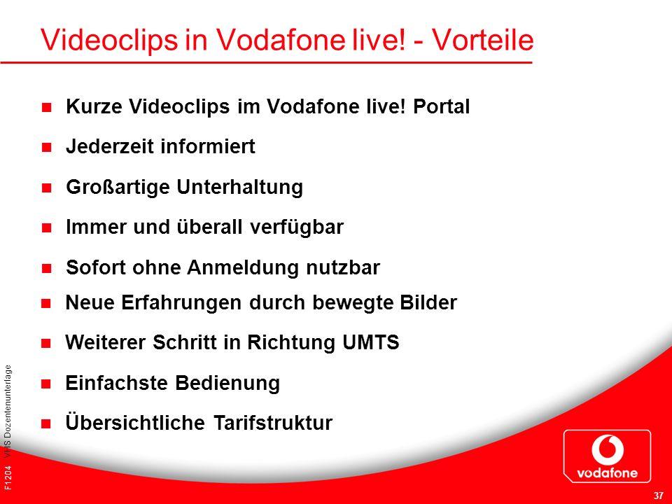Videoclips in Vodafone live! - Vorteile