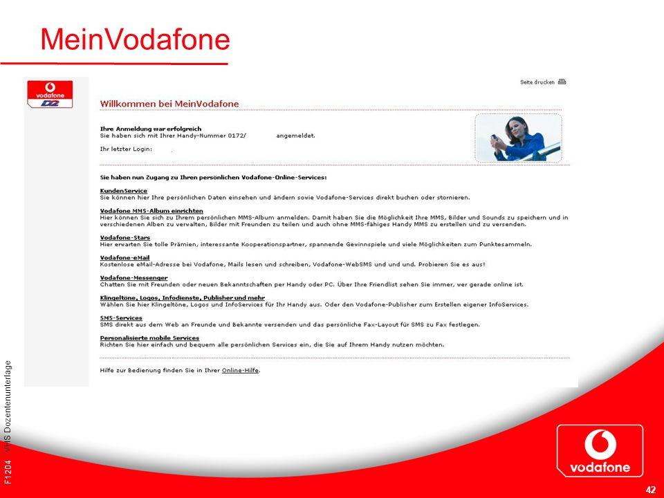 MeinVodafone VHS Dozentenunterlage F1204