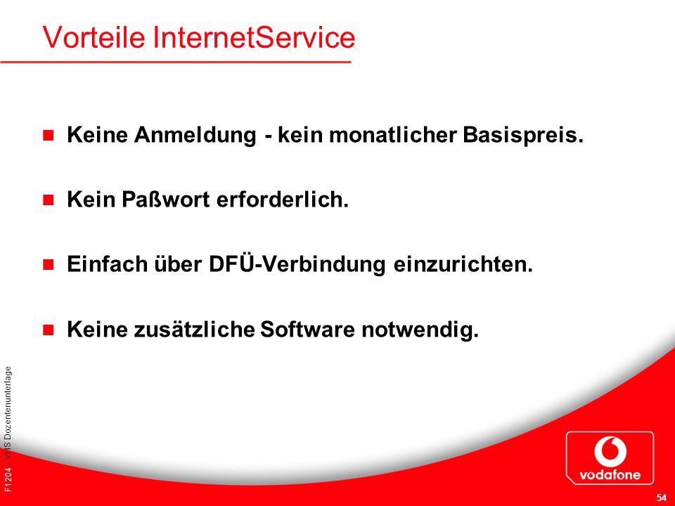 Vorteile InternetService