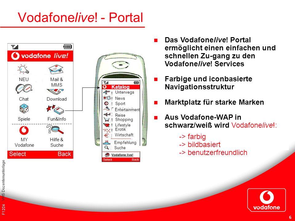 Vodafonelive! - Portal Das Vodafonelive! Portal ermöglicht einen einfachen und schnellen Zu-gang zu den Vodafonelive! Services.