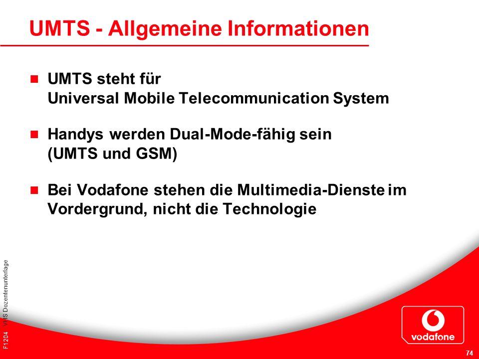 UMTS - Allgemeine Informationen