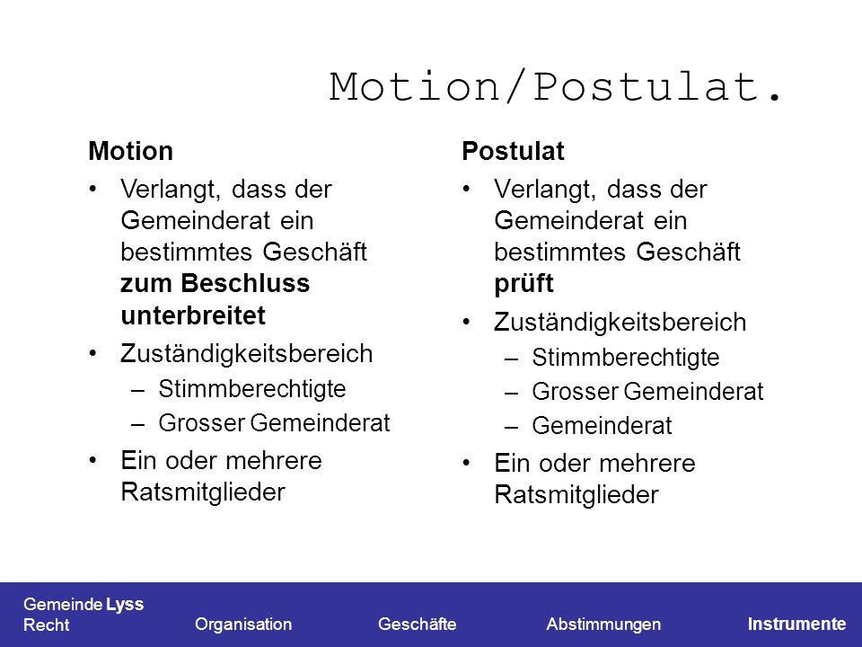 Motion/Postulat. Motion