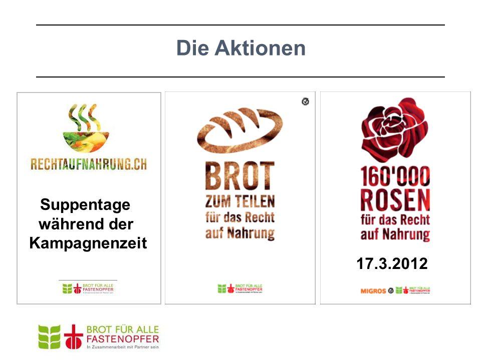 Die Aktionen Suppentage während der Kampagnenzeit 17.3.2012