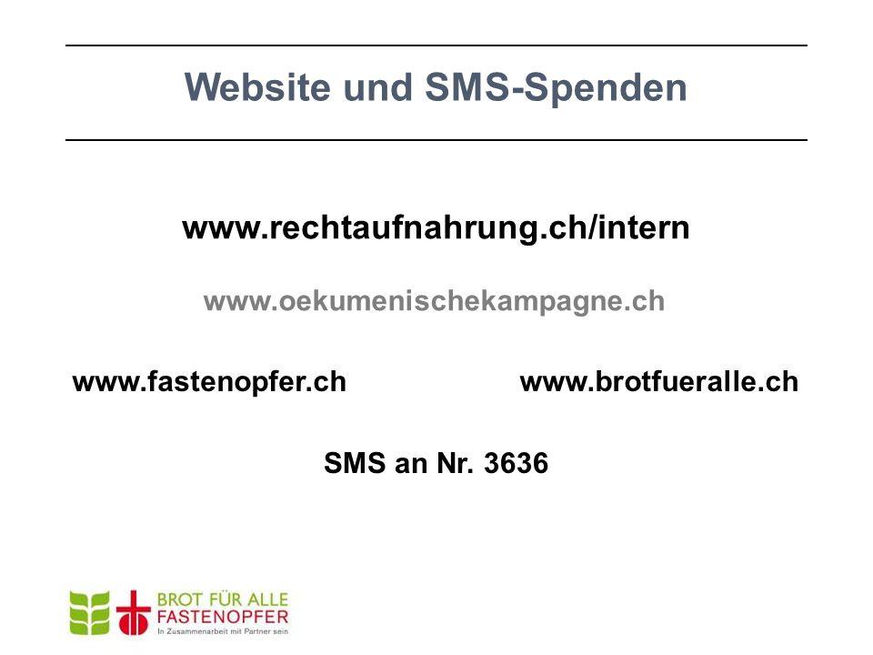 Website und SMS-Spenden