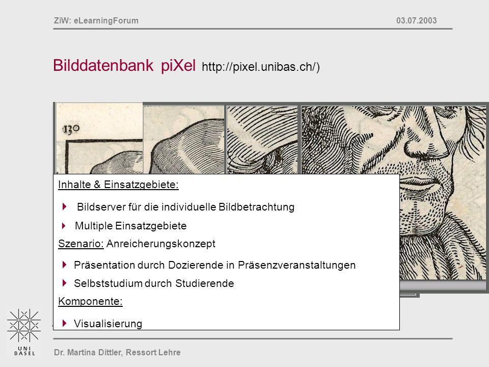Bilddatenbank piXel http://pixel.unibas.ch/)