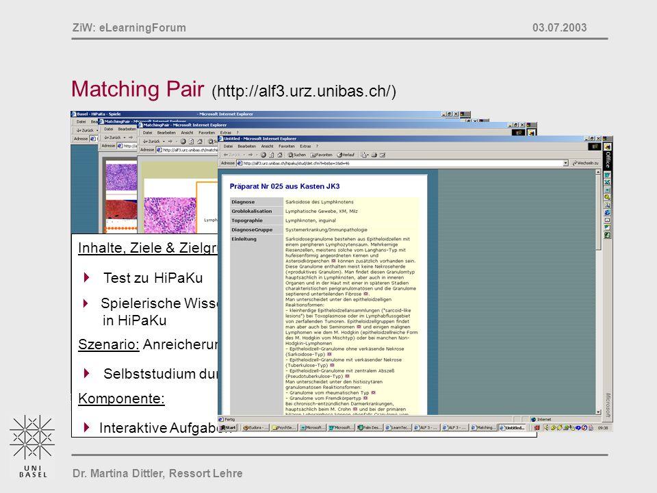 Matching Pair (http://alf3.urz.unibas.ch/)