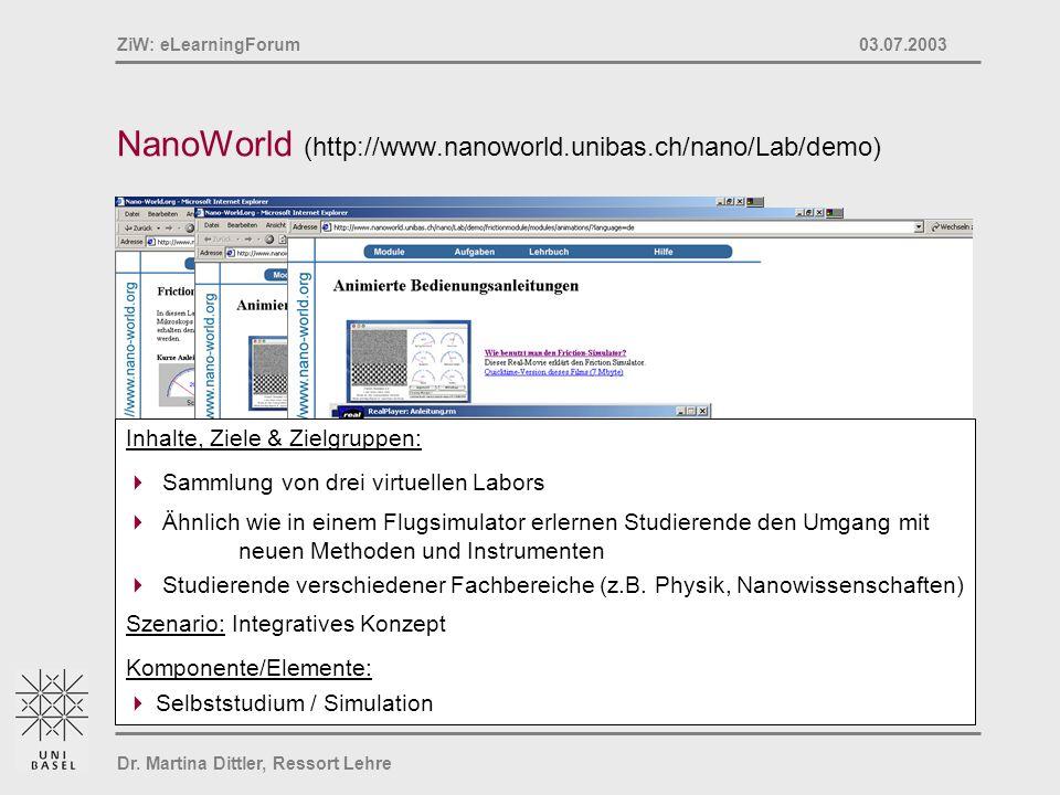NanoWorld (http://www.nanoworld.unibas.ch/nano/Lab/demo)