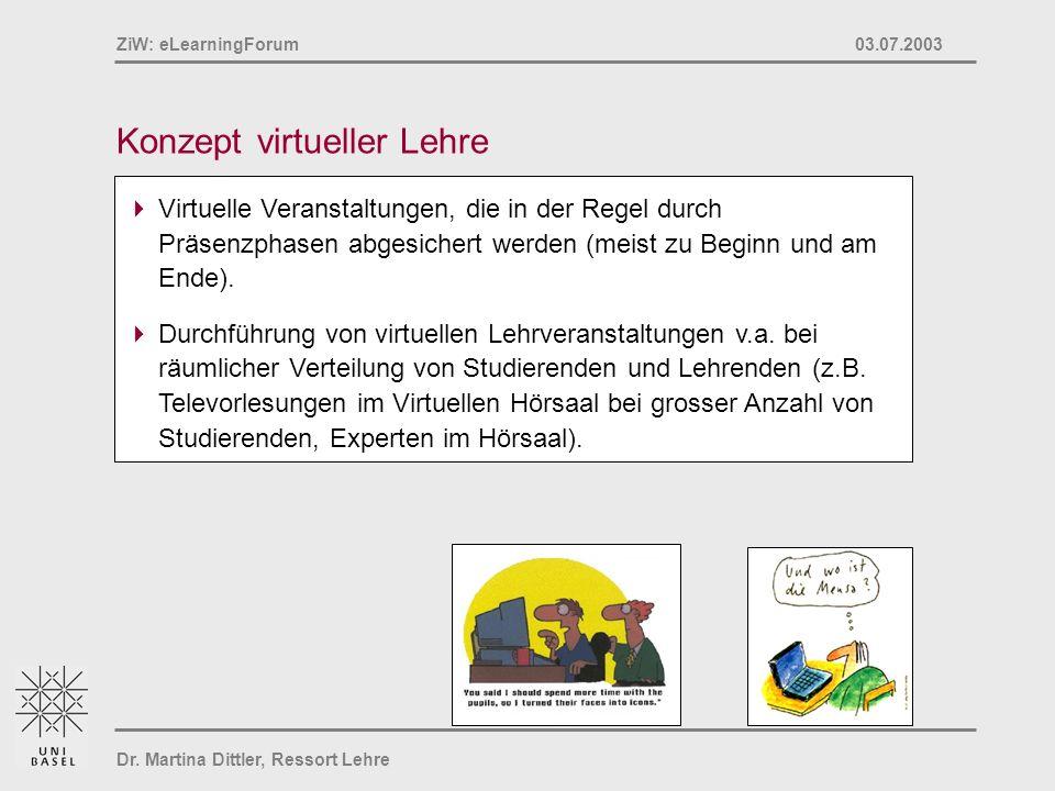 Konzept virtueller Lehre