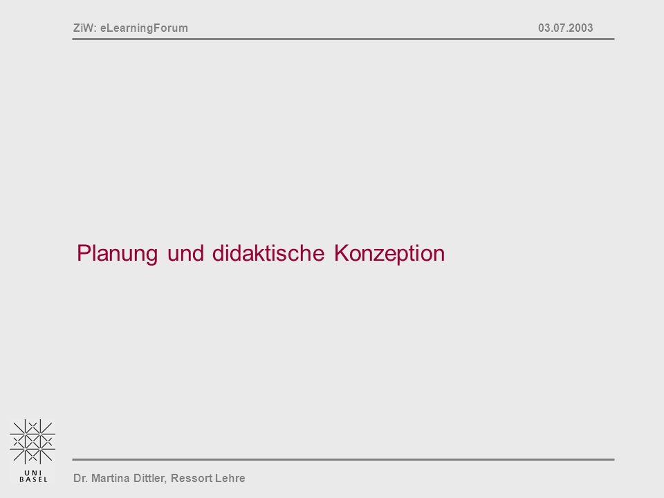 Planung und didaktische Konzeption
