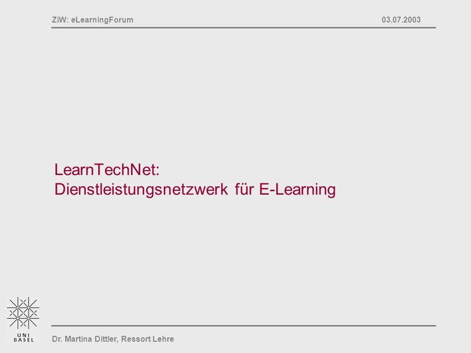 LearnTechNet: Dienstleistungsnetzwerk für E-Learning
