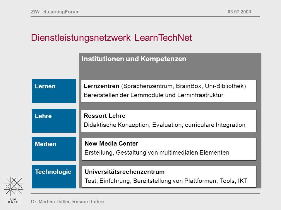 Dienstleistungsnetzwerk LearnTechNet