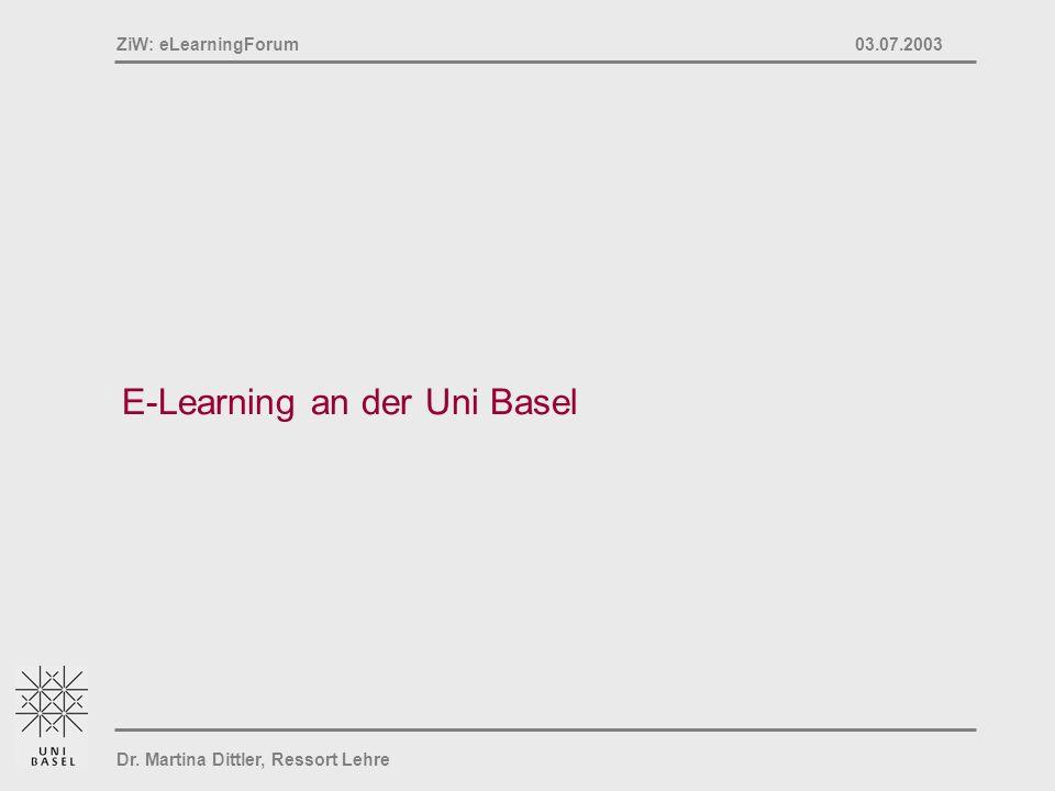 E-Learning an der Uni Basel