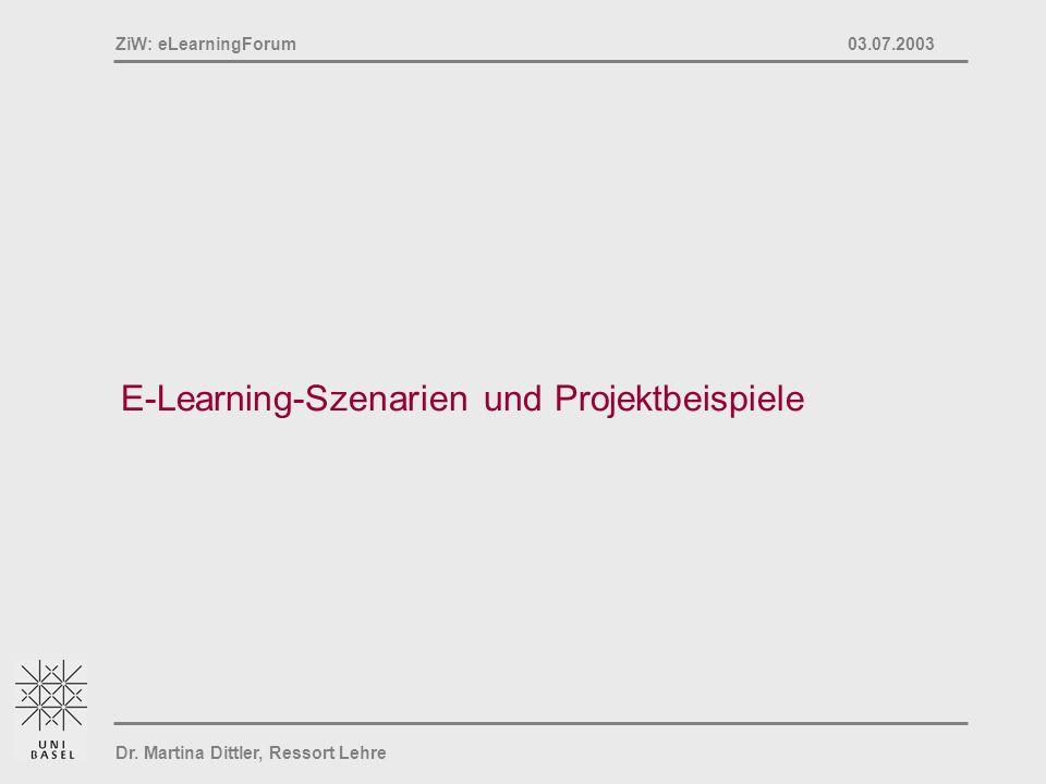 E-Learning-Szenarien und Projektbeispiele
