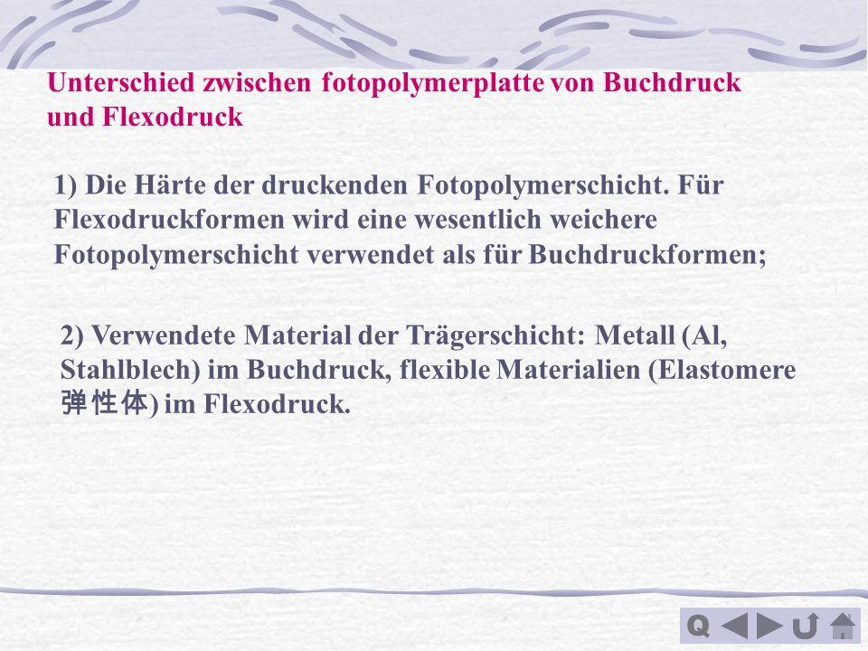 Unterschied zwischen fotopolymerplatte von Buchdruck und Flexodruck
