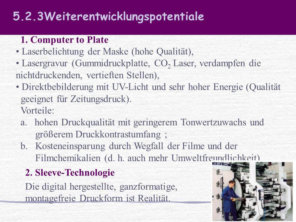 5.2.3Weiterentwicklungspotentiale