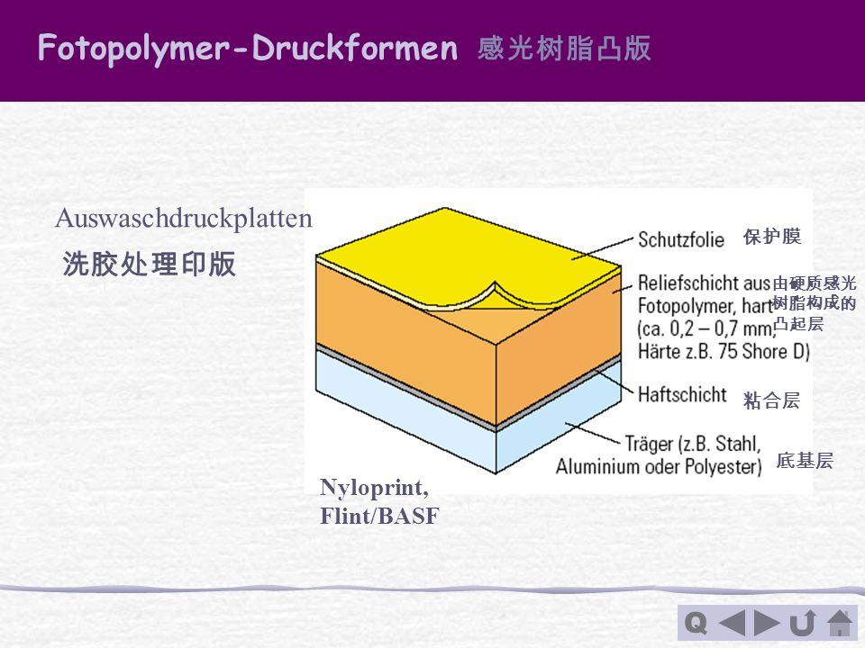 Fotopolymer-Druckformen 感光树脂凸版